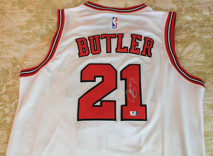 74531d127fe7 Img 6555590972 1535596509. Img 6555590972 1535596509. Previous. Jimmy  Butler signed autographed NBA Chicago Bulls Jersey COA Certified