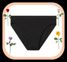 M Dark Black Stretch Cotton Victorias Secret High-Leg Waist Cheeky Brief... - $10.99