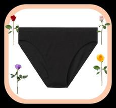 M Dark Black Stretch Cotton Victorias Secret High-Leg Waist Cheeky Brief... - $10.99