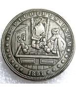 Rare New Hobo Nickel 1891 Morgan Dollar Scrooge McDuck Time is Money Dis... - $11.99