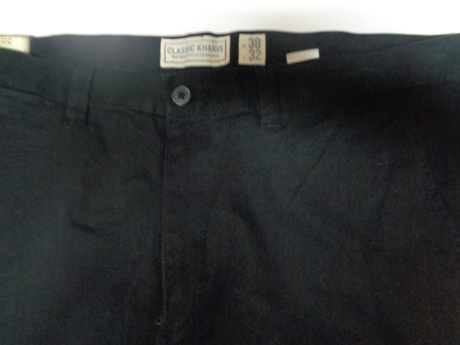 Old Navy Classic Khakis Black NWT Men's SZ 38/32 Just Below Waist Straight Leg