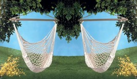 Hammock Swing Chair Recycled Cotton Net for Garden Patio or Porch Set of 2 - $54.95
