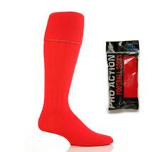 Mens Plain Football Hockey socks 6-11 uk Boot, 39-45 eur, 7-12 us  Red - $5.36