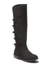 Cat & Jack Black Faux Suede Leora Zipper Ankle Riding Boots