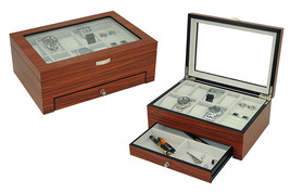 ROSEWOOD watch and Jewelry Box Storage Organizer Men's Jewelry Box  New - €60,13 EUR