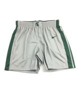 New Nike Spartans Performance Basketball Short Women's Medium Grey Green... - $11.58