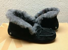 Ugg Alena Leopard Black Shearling Lined Mocc ASIN Slippers Us 6 / Eu 37 / Uk 4.5 - $98.18