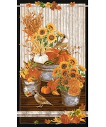 1 Panel, Autumn,Fall, Giving Thanks Quilt Shop Cotton by Kaufman, Very Pretty - $7.31
