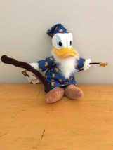 "Merlin Wizard Donald Duck Mini Bean Bag Plush Toy Disney Store Classic 9"" NWT - $21.95"