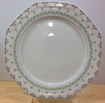 Christopher Stuart Bali Hai Chop Plate Platter Pink Blue Flowers Floral ... - $18.69