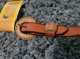 Rawhide Bosal Hanger with leather NEW horse size image 2