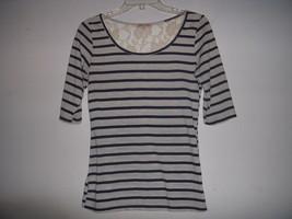 Lot of 2 Breton Striped Shirts Navy Cream lace Oatmeal Gap Modcloth XS Nautical - $9.90