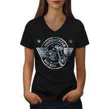 Rider Motorcycle Biker Shirt Bike Life USA Women V-Neck T-shirt - $12.99+