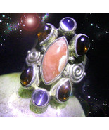 HAUNTED RING THE PINK STAR LOVE'S WELLNESS PROTECTION MAGICK SECRET OOAK... - $9,107.77