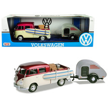 Volkswagen T1 Pickup Truck Purple and Cream with Surfboard, Accessories ... - $47.82