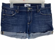 Paige Womens Shorts Size 28 Medium Wash Jimmy Jimmy Short Stretch Distre... - $24.59