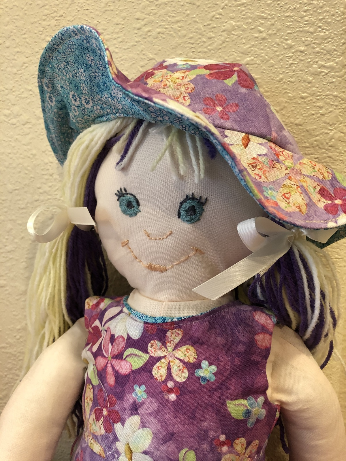 "Primary image for Handmade Cloth Rag Doll Soft Cuddly Handcrafted 18"" Doll"
