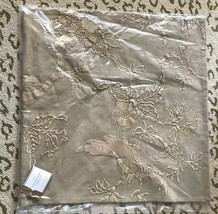 Pottery Barn Kelcie Pillow Cover Neutral 22 sq Embroidered Stonewash Bir... - $37.77
