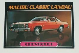 1976 topps cars 1977 chevrolet malibu classic landau card #16 vg-ex cond - $11.88