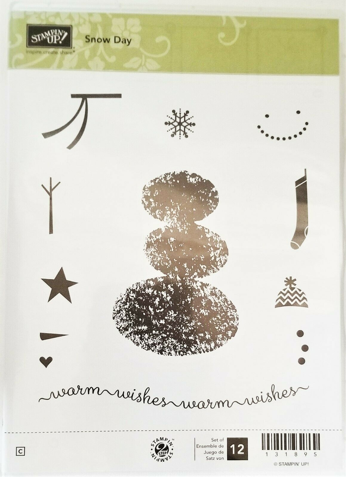 "Primary image for NEW!  Stampin' Up ""Snow Day"" Stamp Set #131895"