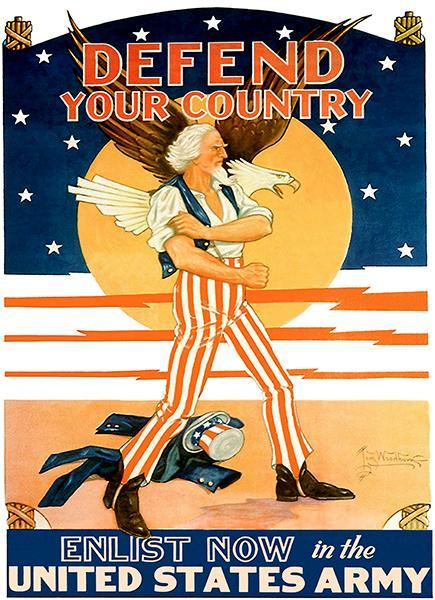 Primary image for Defend Your Country - 1944 - World War II - Propaganda Poster