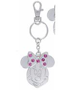 Disney Parks Minnie Mouse Metal October Faux Gem Birthstone Keychain Key Chain - $18.90
