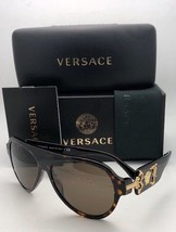 Polarized VERSACE Sunglasses VE 4323 108/73 58-15 140 Tortoise-Gold w/Brown Lens