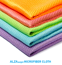 Alza Magic 2 Pcs. Eco Friendly Microfibre Cloth Clean Kitchen Glass Windows - $7.99