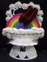 We must be Over the Rainbow Wizard of OZ Wedding Cake Topper Birthday engagement - $48.02