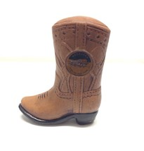 "Cowboy Boot Still Bank Nebraska Souvenir Decor 5"" Tall Distressed Look F... - $22.30"
