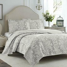 Laura Ashley Rowland Gray Quilt Set, Twin - $105.70+