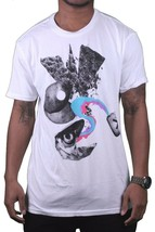 WeSC Uomo We Are Superlative Conspiracy Bianco Svedese Dittan Och Dattan T-Shirt