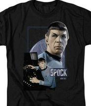 Star Trek Spock Starship Enterprise Retro 60s 70s Sci-Fi graphic tee CBS579 image 3