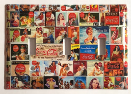 Coke Coca Cola Old posters Light Switch Power Outlet Wall Cover Plate Home decor image 8