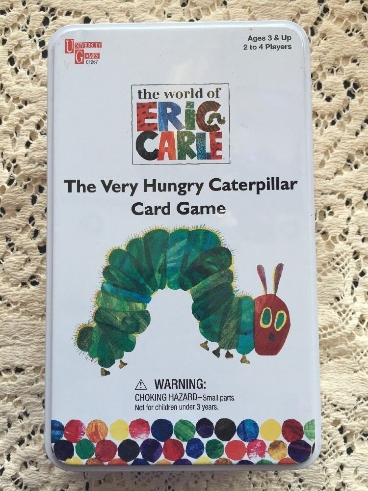 Eric Carle Very Hungry Caterpillar Card Game Children Kids Play Toys Educational