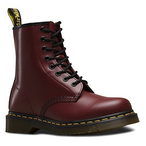 Dr. Martens 1460 Originals 8 Eye Lace Up Boot, Cherry Red Rouge Leather, 3UK / 4