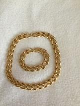 Vintage Napier Choker Necklace and Bracelet Set 1980's Pat 4.774.743 - $110.00