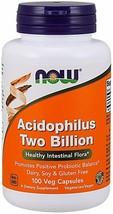 NOW Foods Acidophilus, Two Billion, 100 Veg Capsules, Healthy Intestinal... - $11.77