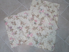 Set of 2 New Standard Pillowcases Roses and Vines by Cannon - $19.99