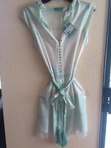 HANDMADE TUNIC DRESS BEACH COVERUP BY LETARTE sz Large NWT - $98.99