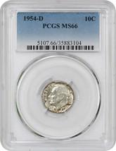 1954-D 10c PCGS MS66 - Roosevelt Dime - $24.25