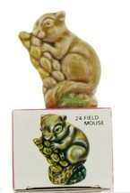 No.24 Field Mouse Miniature Porcelain Figurine Picture Box Whimsies by Wade