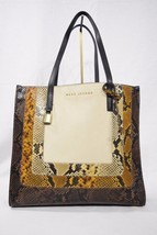 MARC By Marc Jacobs M0012901 The Snake Grind Shopper Tote Bag in Papyrus Multi - $439.00