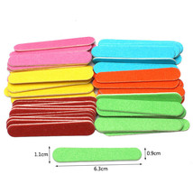 Wooden Nail Files Disposable Mini Nail File Portable 100pcs Double-sided... - $5.89