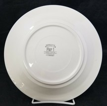 "Pier 1 Christmas Tree Dinner Plates Set of 2 Made in Italy 9.75"" White Red Trim image 2"