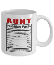 Funny Mug-Aunt - Nutrition Facts-Best gifts for Aunt-11oz Coffee Mug - $13.95