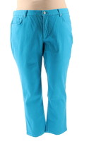 Denim & Co How Slimming Denim Straight Leg Jeans Summer Teal 16P NEW A27... - $20.77