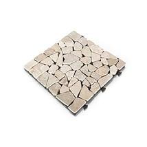 "Courtyard Casual 5117 Outdoor Deck Tiles, 12"" x 12"", Stone White, 6 Piece"