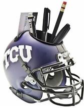TCU Horned Frogs NCAA Football Matte Schutt Mini Helmet Desk Caddy - $21.95