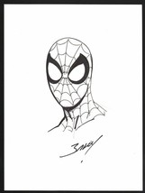 Mark Bagely SIGNED Original Marvel Comic Art Sketch ~ Ultimate Amazing Spiderman - £147.96 GBP